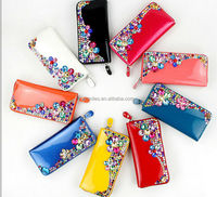 Beautiful fashion women wallet with stone