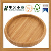 Wholesales handmade custom cheap round bamboo cup mat coaster wooden cup pad