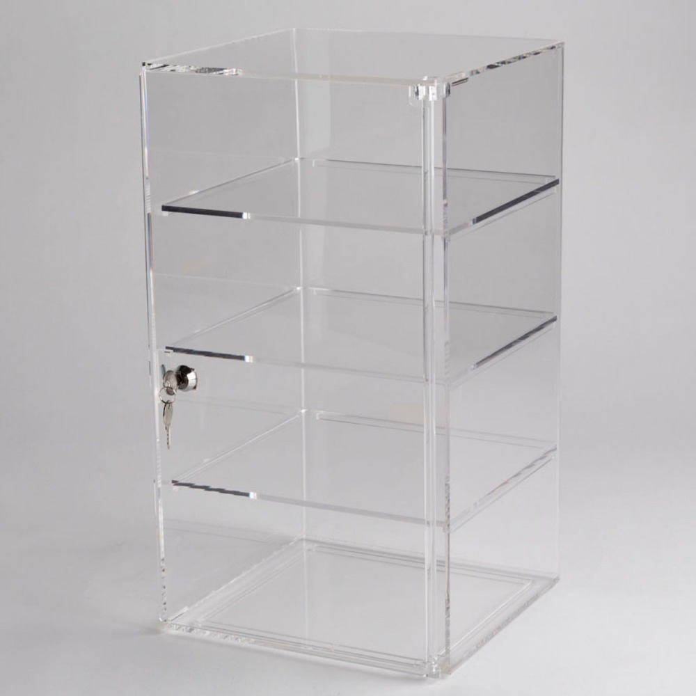 Acrylic Jewelry Display show Case with Lock /Locking Acrylic Display Case