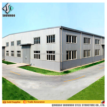 Structural Steel Construction Steel Frame Building Low Cost Prefab Warehouse