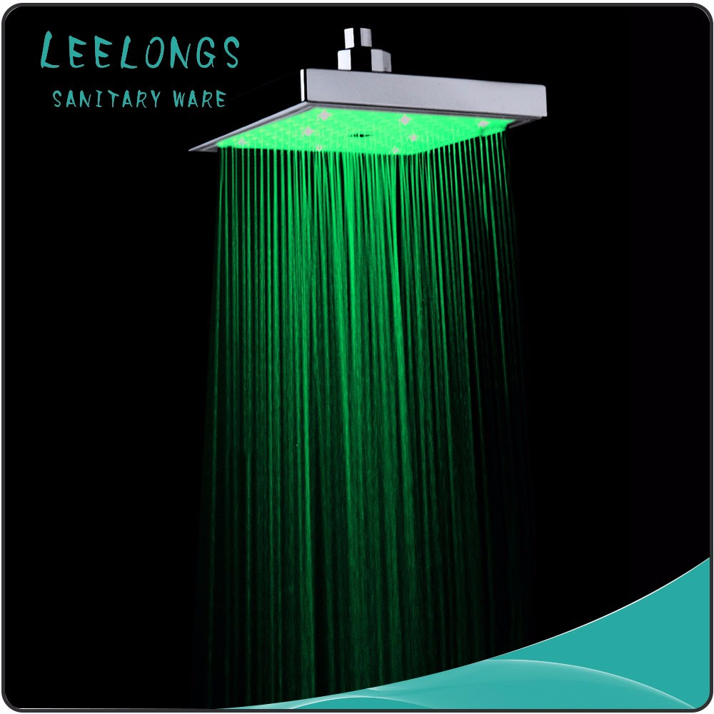 8inch Color Changing Led Music Lighting Square Rainfall LED Shower Head