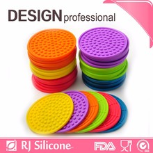 RJSILICONE mats silicone puzzle silicone rubber cup holder coaster of cup