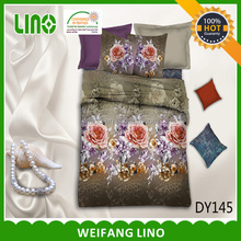 3d printed polyester microfiber king and queen size fitted bedspread/luxury king size bedspreads