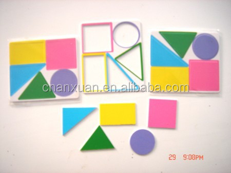 learn colorfule shape for kids puzzle toy card,puzzle mat