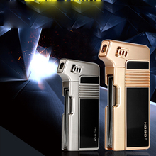 Top fashion attractive style luxury butane fuel refill gas pipe lighter wholesale 973