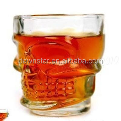 Skull Head vodka shot glass wine drinking <strong>cup</strong>