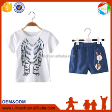 2016 Children new design baby boy clothes for 2 pieces kid clothing set wholesale summer child clothes (045)