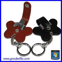 Leather Butterfly style pen drive 3.0