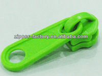 Wholesale and Custom Fashion Fluorescent Green Plastic Zipper Sliders In GuangZhou