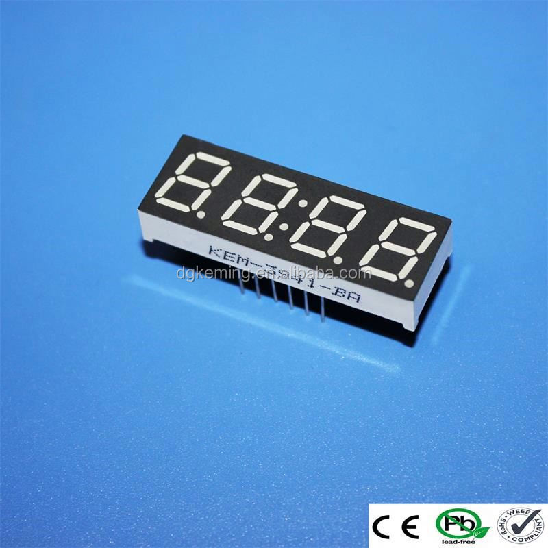 "common andoe red blue green white 0.39"" 4 digit 7-segment display led"
