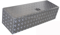 Truck trailer checker plate aluminum tool box