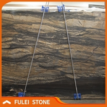 Exotic polished vein cut sandalus leather finish granite slabs