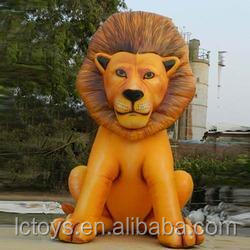Commercial pvc inflatable mascot, inflatable mascot costume, inflatable lion mascot