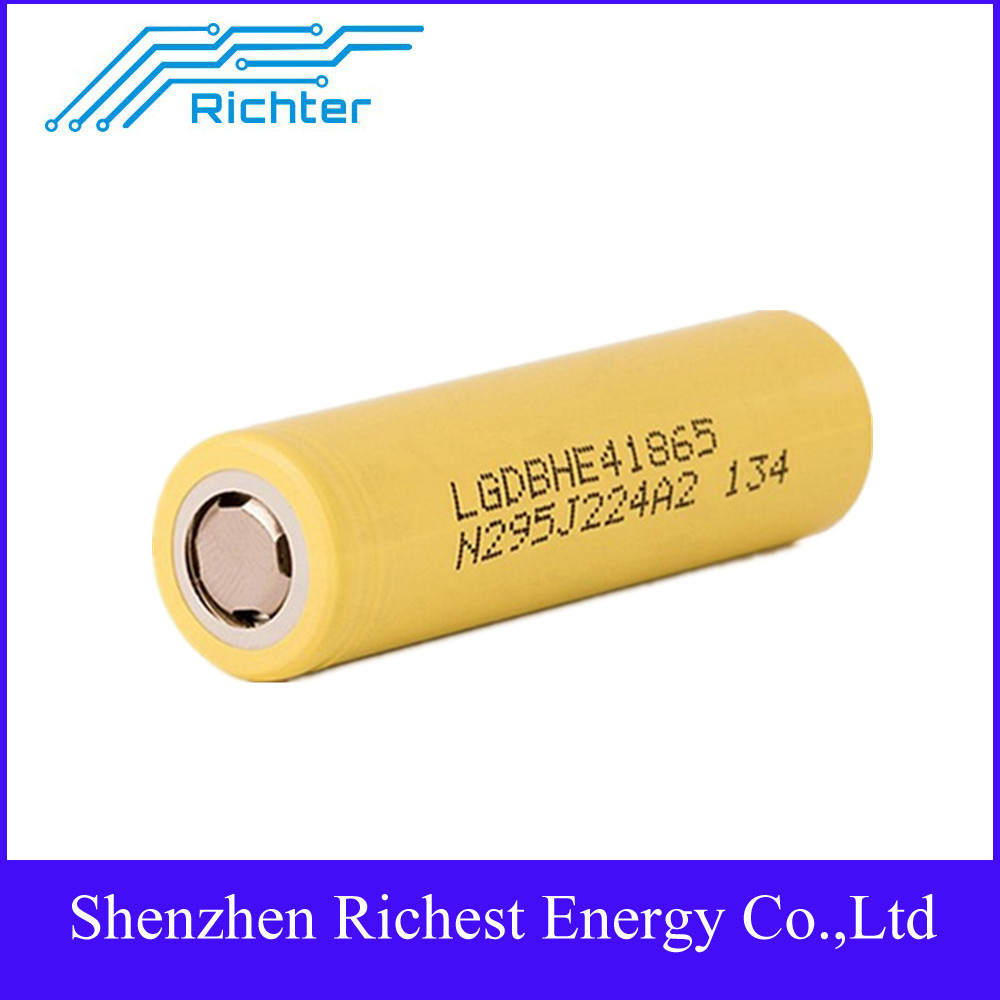 Electric cigarette 18650 battery li ion lg he4 rechargeable lg battery