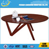 Wooden round tea table coffee table design for living room furniture