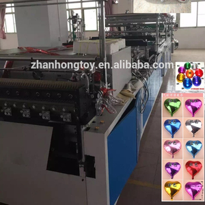 Automatic aluminium film foil balloon making machine