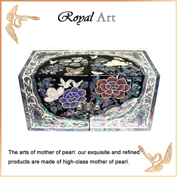 Luxury Jewelry Box with Mother of pearl inlaid; DO-136