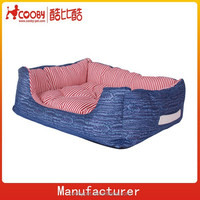 canvas and prints denim dog bed