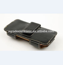 Hot selling belt clip leather pouch case for iphone5, pouch leather case for samsung galaxy s2