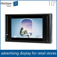 "Flintstone 10 inch lcd motion sensor advertising player, usb sd cf card lcd digital signage, 10"" lcd monitor advertising screen"