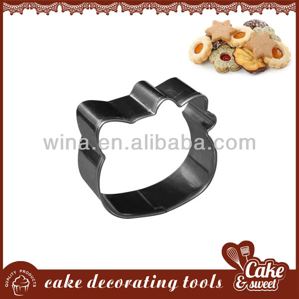 Cat shape stainless steel bulk cookie cutters