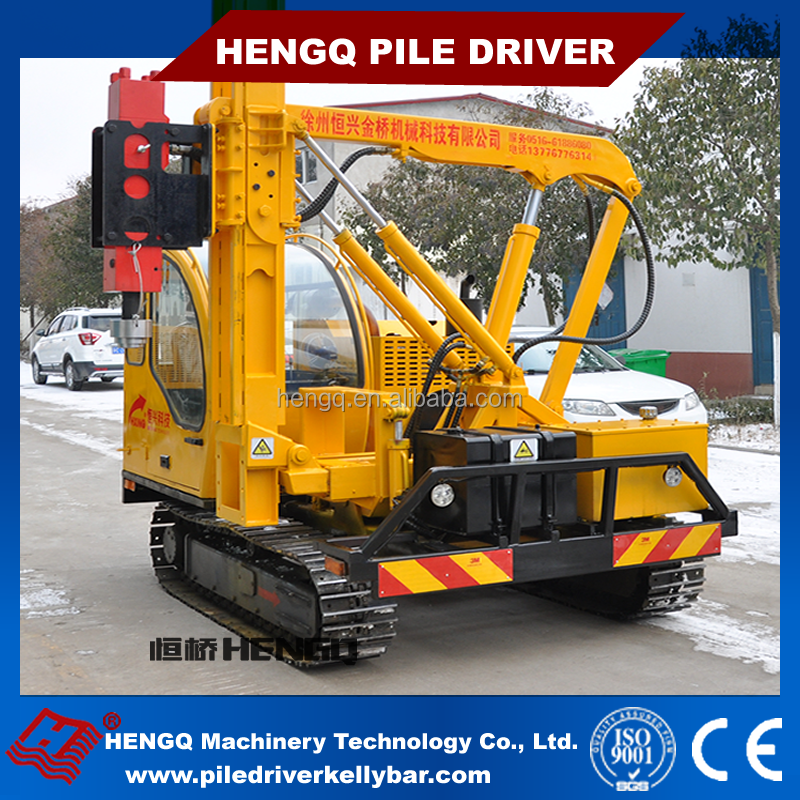 highway guardrail pile driver for safety barriers maintenance making machine from China