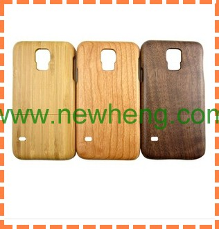 2 in 1 Detachable Wood Back Cover Case for Samsung Galaxy S5 I9600 G900