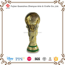 Hot Selling Resin World Cup Golden Trophies Souvenir