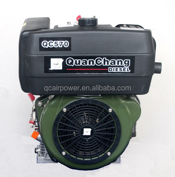 ISO & CE 15 hp single cylinder diesel engine