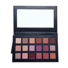 Cosmetics grade increditable richer and vibrant easy colored cardboard 18 makeup eye shadow