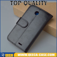 hot selling Leather flip cover case for Lenovo A516 wallet design with card slots & photo frame