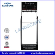 Free standing Iron umbrella display stand/Metal display hanging umbrella in grocery store