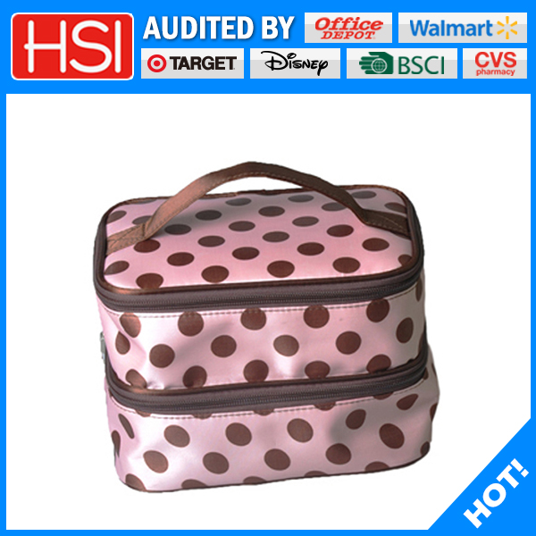 wholesale economical spotted cosmetic storage bag