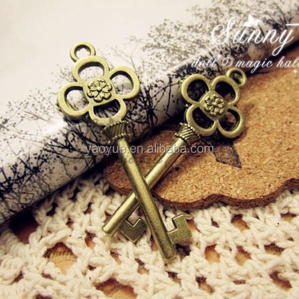 unlocking key pendants charms bezel frame religious pendants
