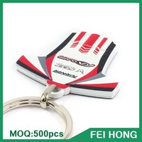 Wholesale bulk cheap digital printing metal souvenir bike key holder