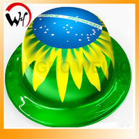 soccer fans pvc hat for Brazil fans