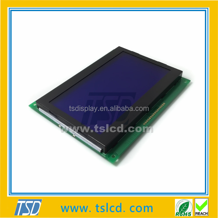 Best offer STN blue 256x128 LCD COB module with PCB board