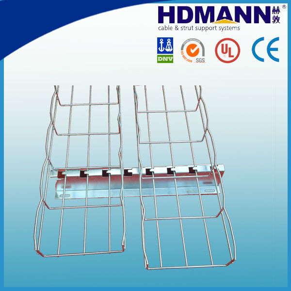 Stainless steel wire mesh cable tray cable basket with accessories