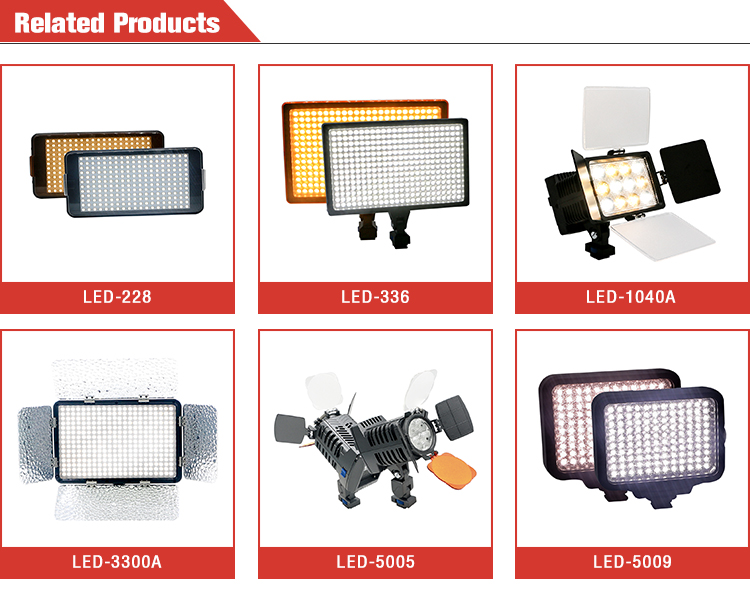 228pcs LED-228 professional photography LED video light lamp for digital camera
