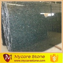 Granite Polished Peacock Green slabs for exterior decoration on sale