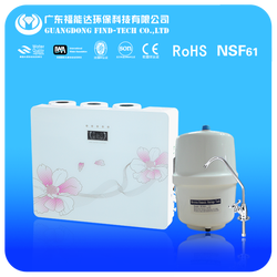wall hanging activated purification ro system 6 stage kitchen mineral pure water filter cost with TDS value diplay