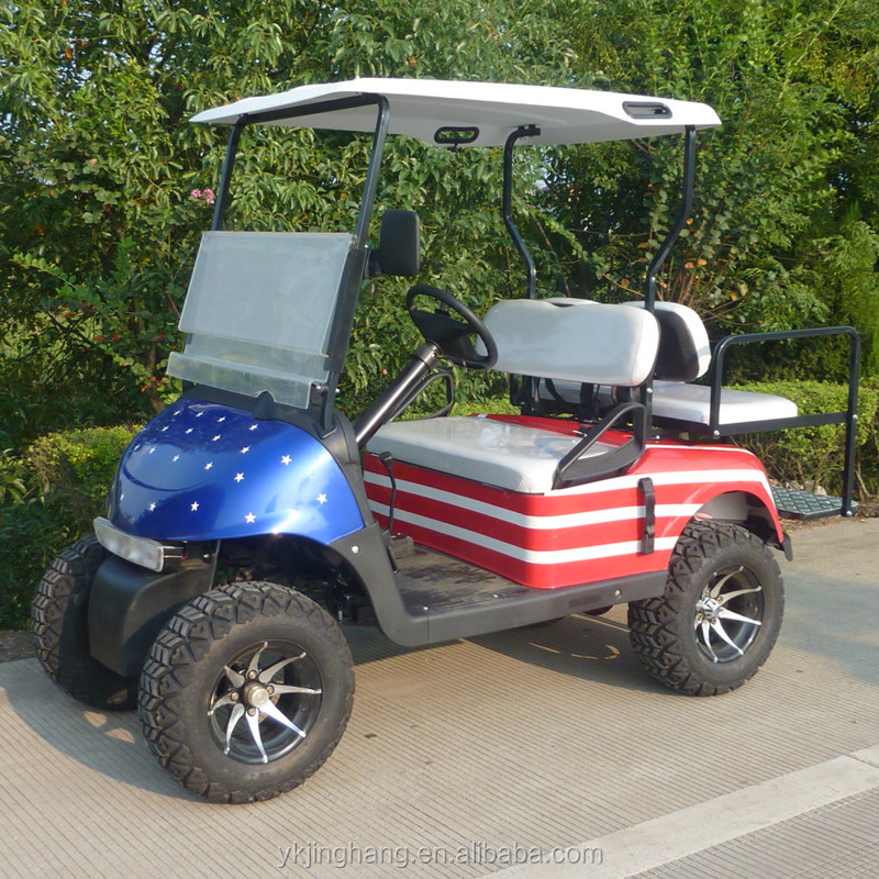 4 seats gas golf cart with off road tyre and 250CC engine for sale