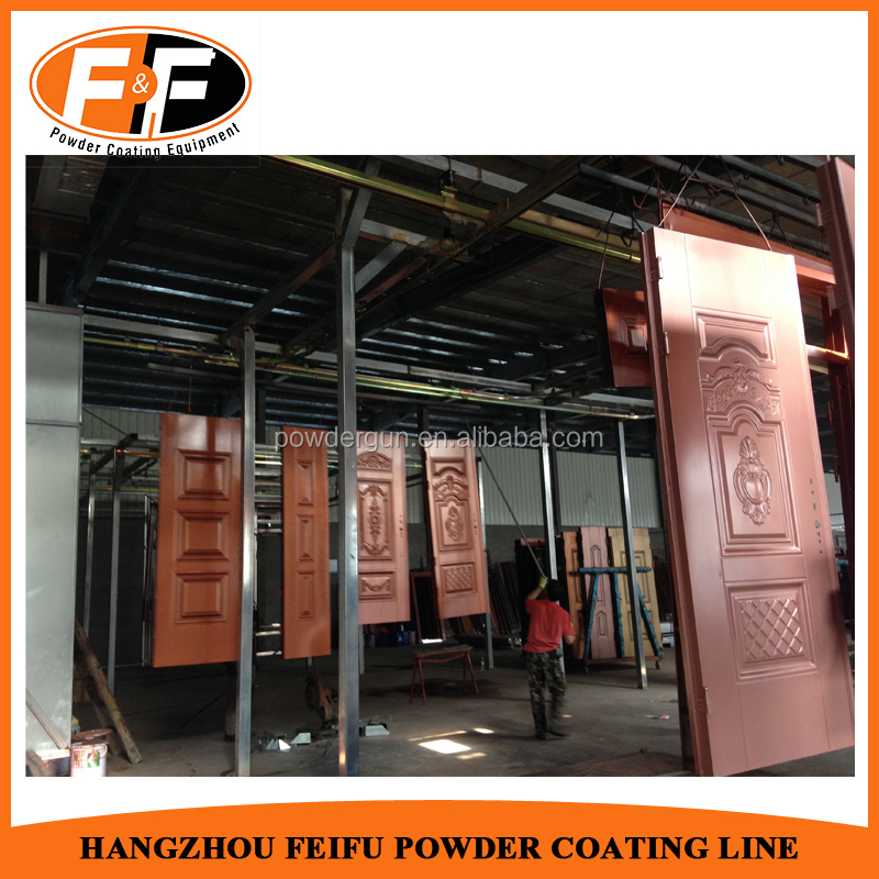 Complete Electrostatic Powder Coating Production Line with Mono Cyclone Paint Booth