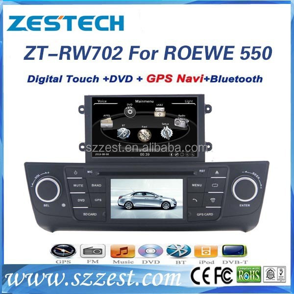 Special for ROEWE 550 Car dvd gps navigation USB/SD/3G/EXT MIC/Camera/Remote control with China supplier ZT-RW702