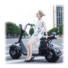 2 seat motorcycle 1000w electric scooter 60v 20ah lithium battery fat tire citycoco