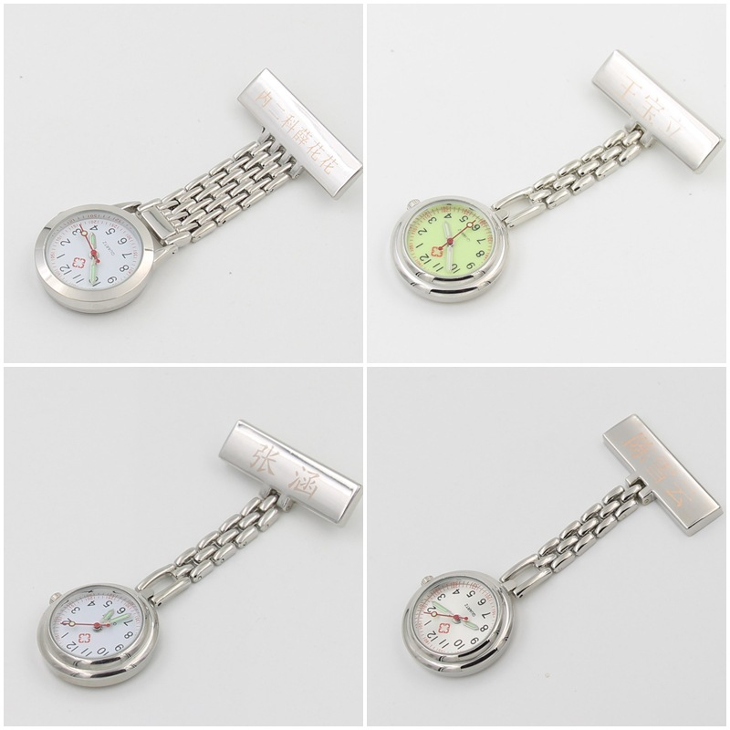 Glow in dark Rose 금 합금 metal 간호사 watch 의료 \ % 정도의 quartz FOB pocket watch 핀 걸 gift watches