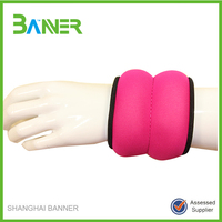 Custom Fashionable GYM Neoprene sand belt weight lifting wrist wraps red