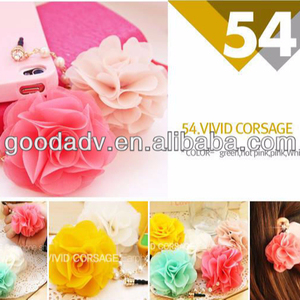 Colorful flower resin mobile ear cap for decoration