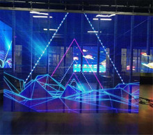 Vteam Transparent led display used for showcase , glass window , media facade