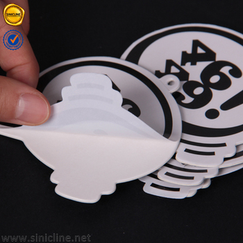 Sinicline 2016 custom die cut black and white sticker hang tags